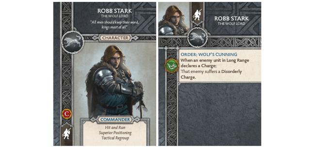 Robb Stark - Wolf Lord Card