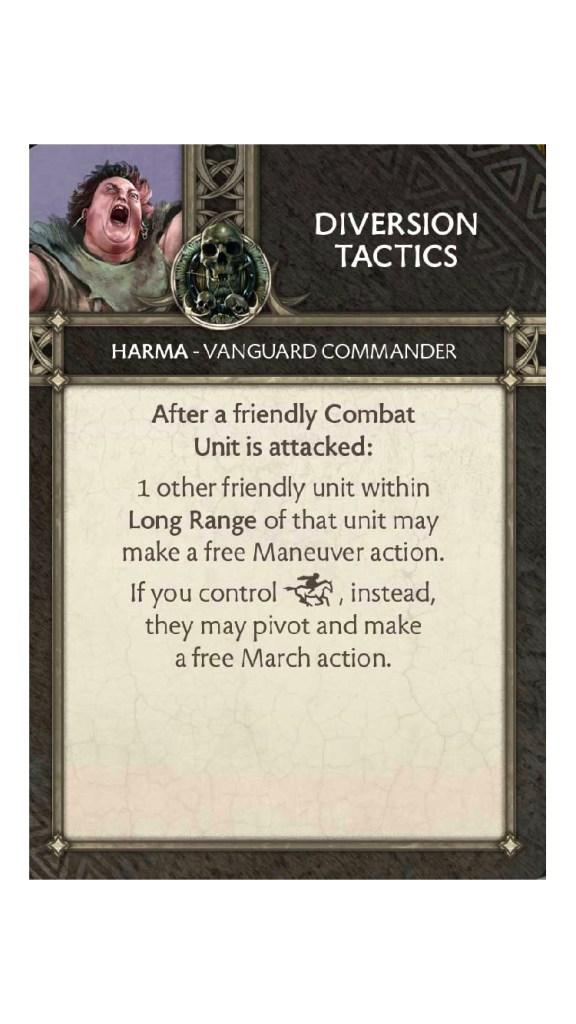 Harma Diversion Tactics Tactic Card