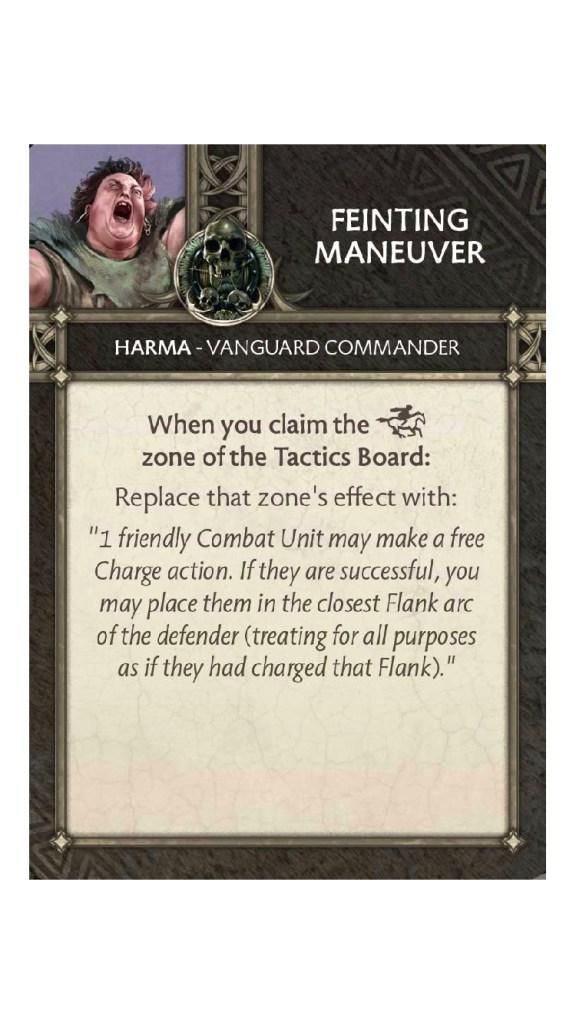 Harma Feinting Maneuver Tactics Card