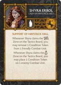 Shyra Errol - The Lady of Haystack Hall for A Song of Ice and Fire the Miniatures Game