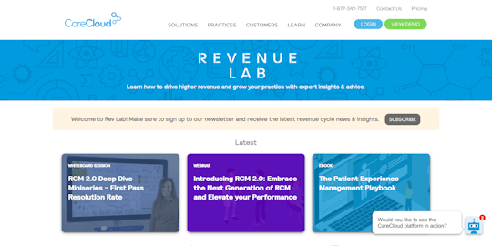 CareCloud Revenue Lab