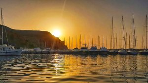 Jacht- vissershaven, Javea, Costa Blanca, Casa Asombrosa, Montgó