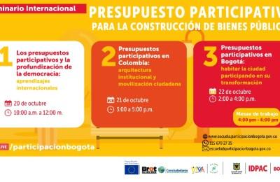 Presupuestos participativos en Bogotá: habitar la ciudad participando en su transformación.
