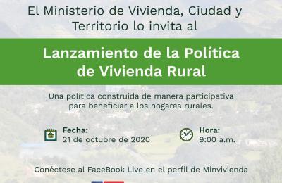 LANZAMIENTO DE POLITICA DE VIVIENDA RURAL