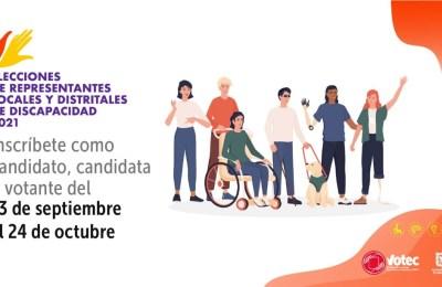 INSCRÍBETE EN LAS ELECCIONES DE REPRESENTANTES LOCALES Y DISTRITALES DE DISCAPACIDAD 2021