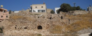 Madaba, showing modern city above ancient remains. Photo courtesy of Thomas Petter.
