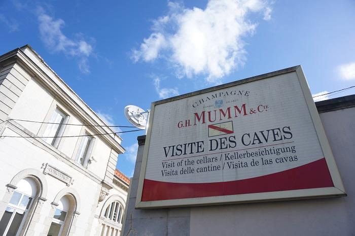 フランスのシャンパーニュ地方を旅行するなら!ぜひ立ち寄りたいランスの<G.H. Mumm>のシャンパンカーヴ