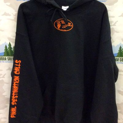 Black Hooded Sweatshirt with Blaze Logo from Final Destination Calls