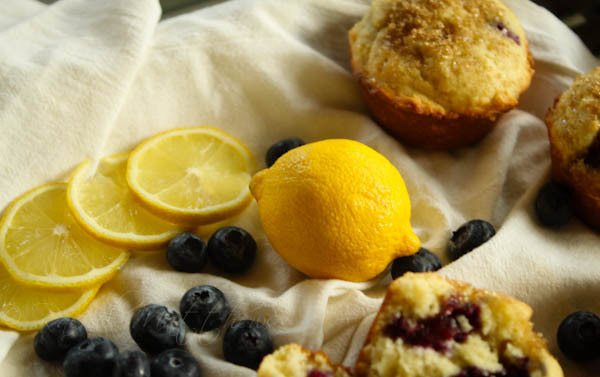Blueberry Muffins with Lemon and Ricotta
