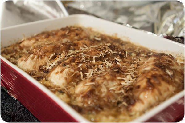 No Peek Chicken and Rice Bake