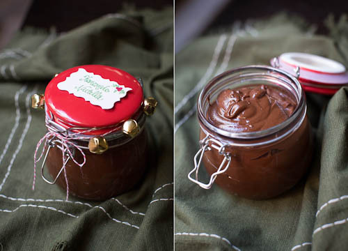 Easy Homemade Nutella in a jar
