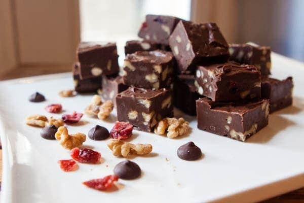 Cranberry, Walnut, Rum Fudge