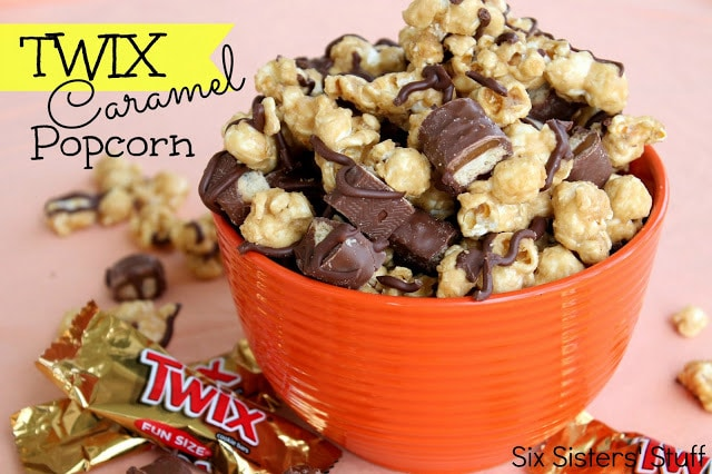 Twix Caramel Popcorn from six Sisters' Stuff
