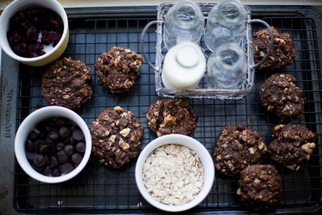chocolate chocolate oatmeal cranberry nut cookies