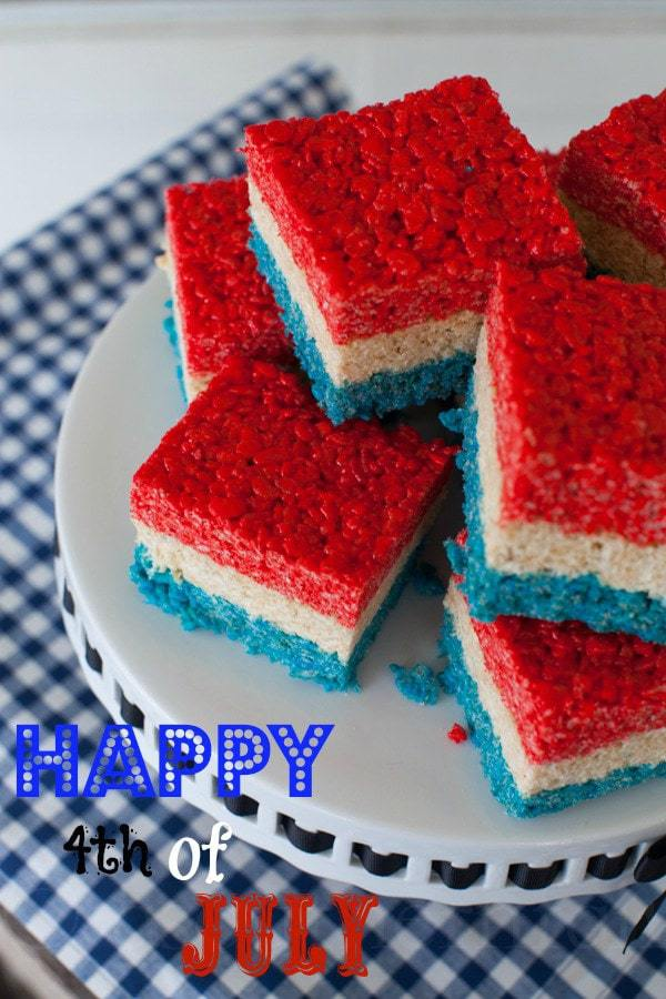 4th of July Rice Krispies Treats