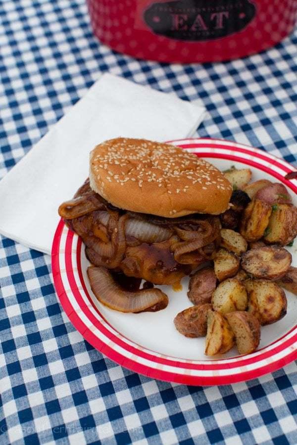 Smoky Caramelized Onion Pub Burgers