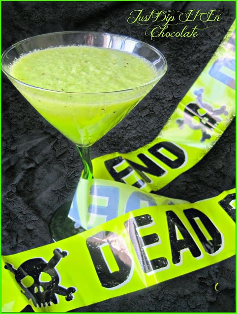 neon green halloween smoothies