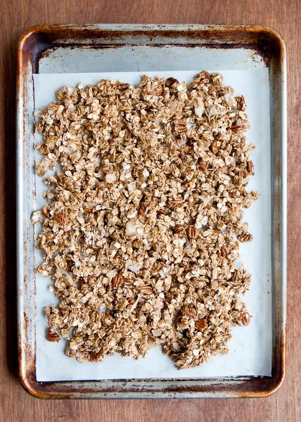 spread on a baking sheet