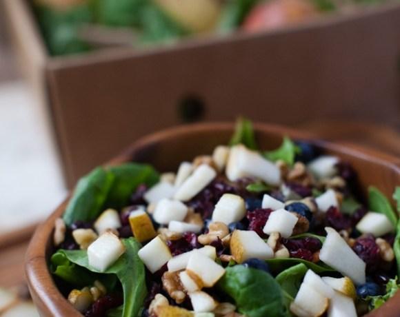 Winter Salad with Harry & David Organic Royal Riviera Pears