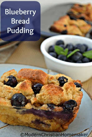 southern style blueberry bread pudding