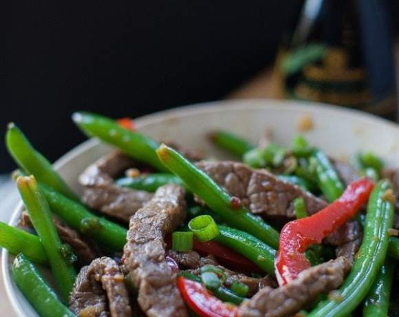 Spicy Ginger Beef and Veggie Stir Fry