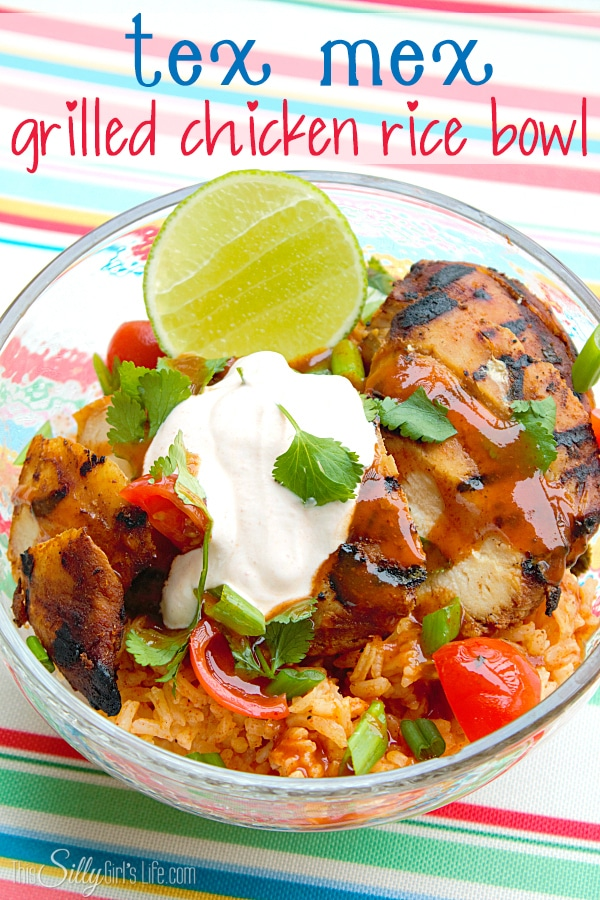 tex mex grilled chicken bowl | this silly girl's life