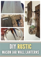 DIY Rustic Mason Jar Wall Lanterns