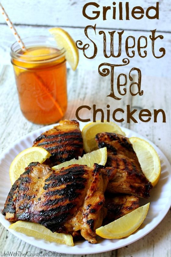 Grilled Sweet Tea Chicken | Life With The Crust Cut Off