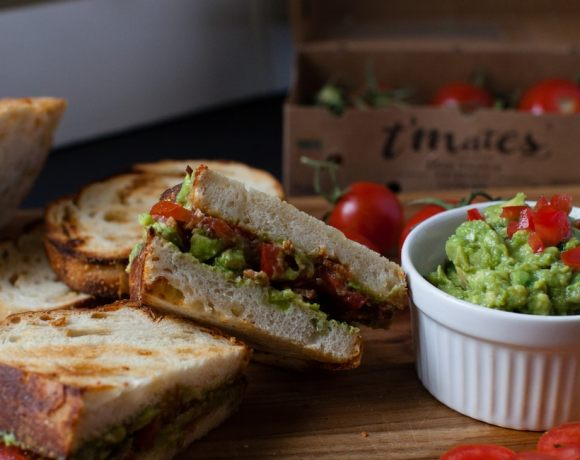 The Ultimate B.G.T {Bacon Guacamole Tomato} Sandwich