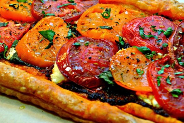 Tomato and Ricotta Tart with Fresh Basil | From Everyday to Gourmet