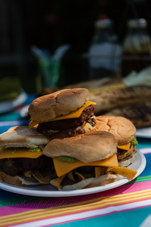 grilled guacamole burgers