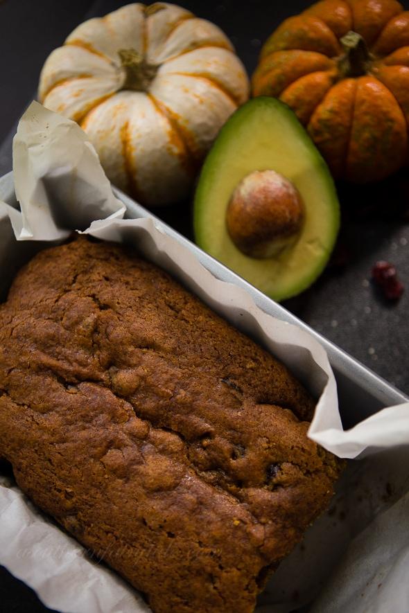 Cranberry Avocado Pumpkin Bread