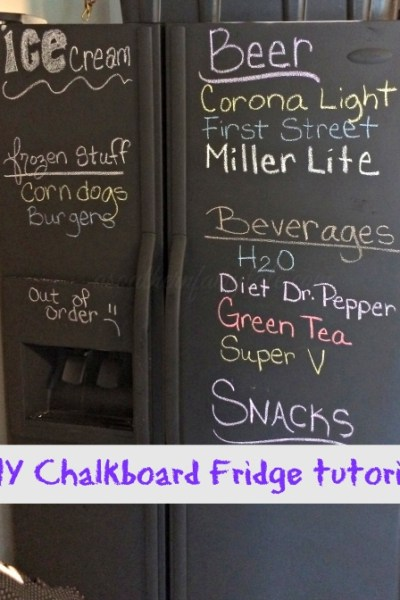 easy chalkboard fridge tutorial