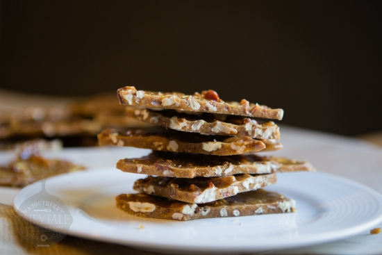 Bacon Pecan Brittle --- Bacon makes everything better and adding it to this pecan brittle turns it into a savory, sweet, salty, crunchy dessert unlike any other | asouthernfairytale.com #bacon #brittle #desserts