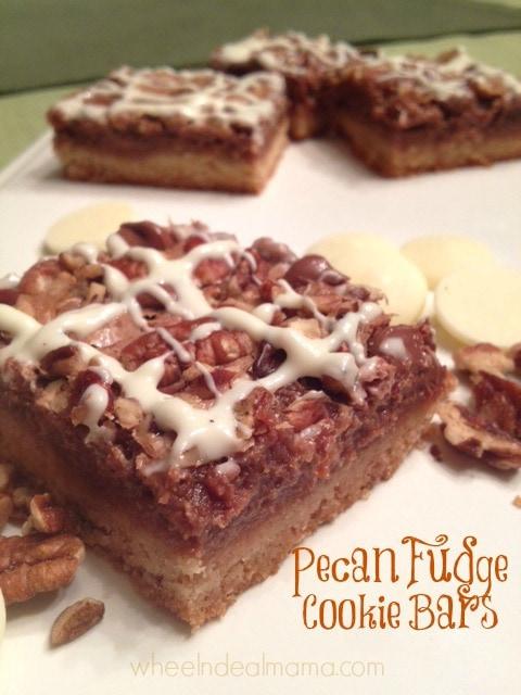 Pecan Fudge Cookie Bars from Wheel n Deal Mama