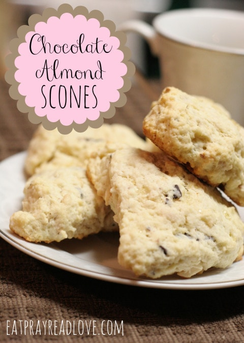 Delicious Chocolate Almond Scones from Eat Pray Read Love