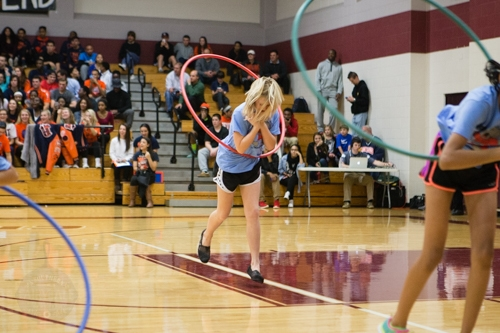 hula hoop team performance