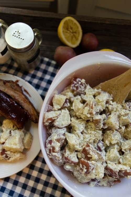 Katie Workman's lemon horseradish potato salad from Dinner Solved-1