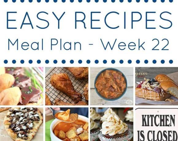 Weekly Meal Plan {Week 22}