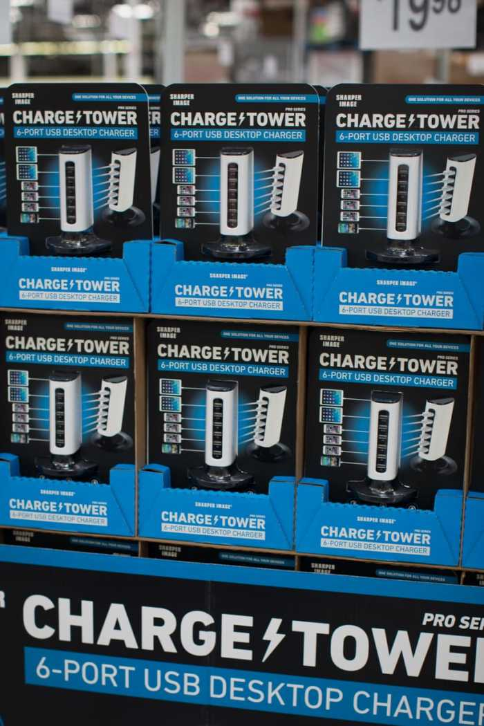 6 port charging tower from Sam's Club