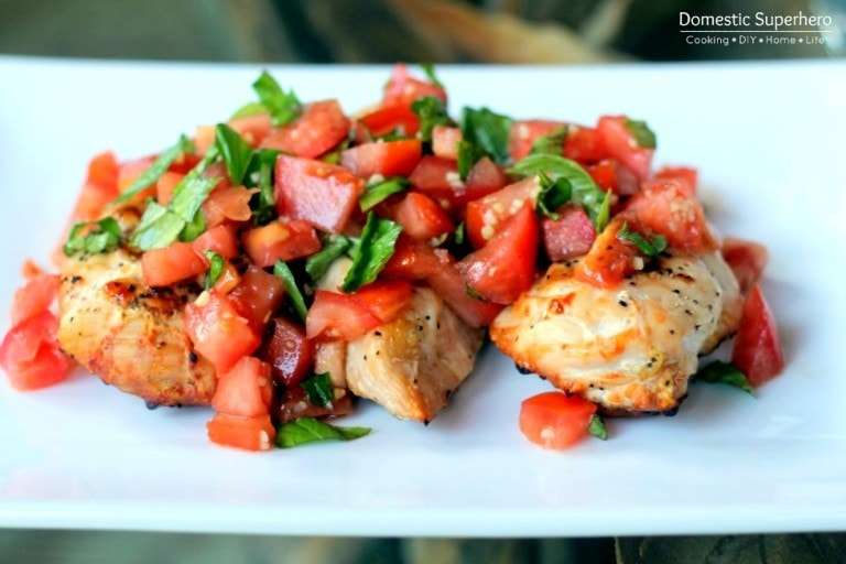 Skinny Bruschetta Chicken from Domestic Superhero