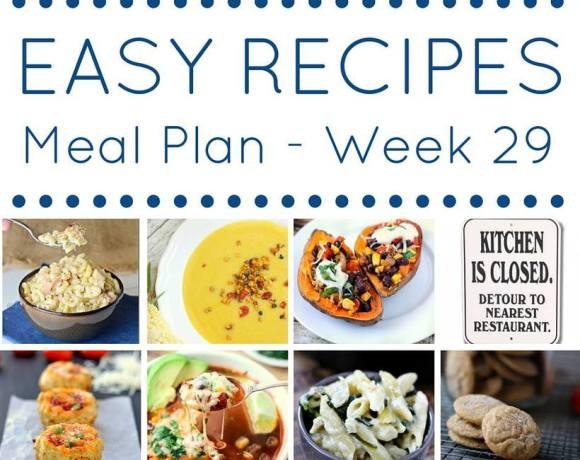 Weekly Meal Plan {Week 29}