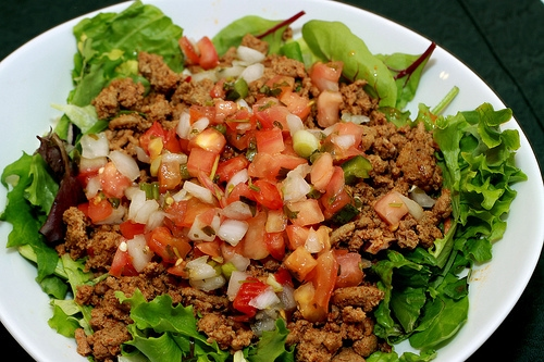 17 Day Diet Taco Salad with Ground turkey meat