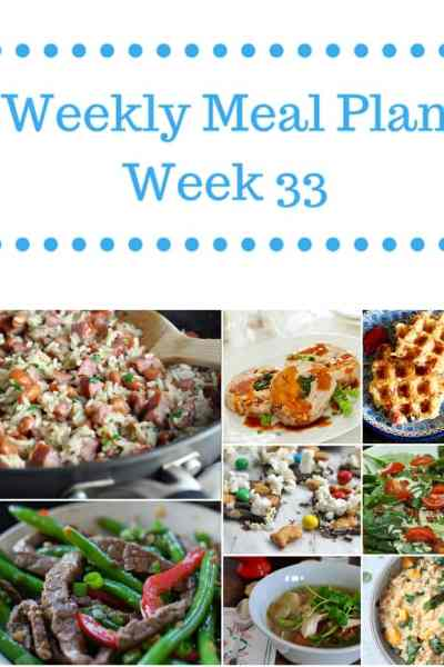 weekly meal plan week 33