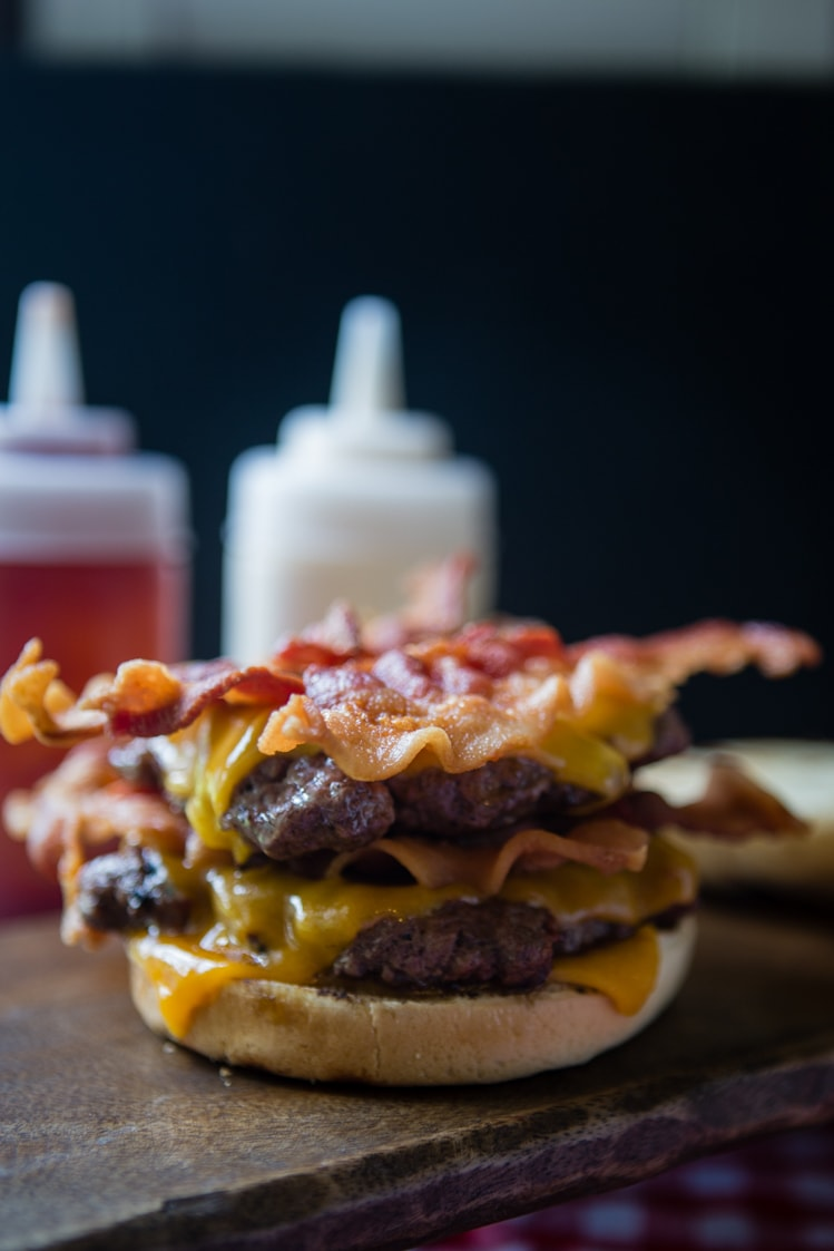 Bacon and Cheese topped baconator®