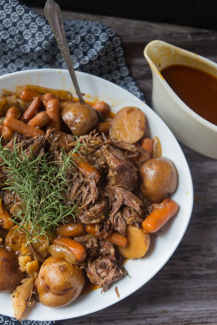 easy and delicious slow cooker Fall Pot Roast