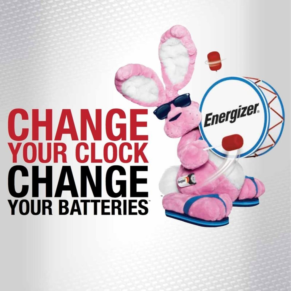 energizer bunny change your clock change your batteries