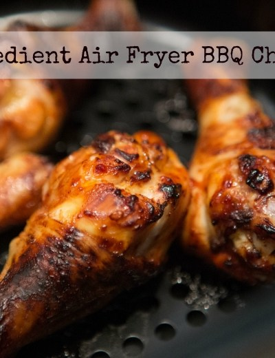 5 Ingredient Air Fryer BBQ Chicken Recipe  {Video}