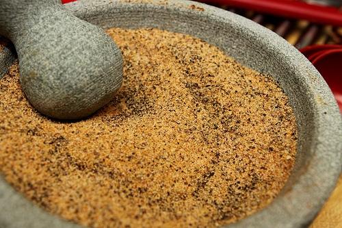 seasoning in molcajete