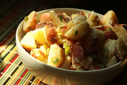 Sunset vinaigrette potato salad